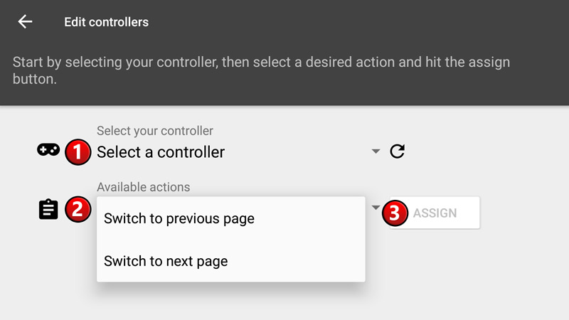 Map Buttons on your Controller/Wheel to switch pages - SIM Dashboard