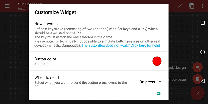 How to create a virtual Button Box on your Android device to control