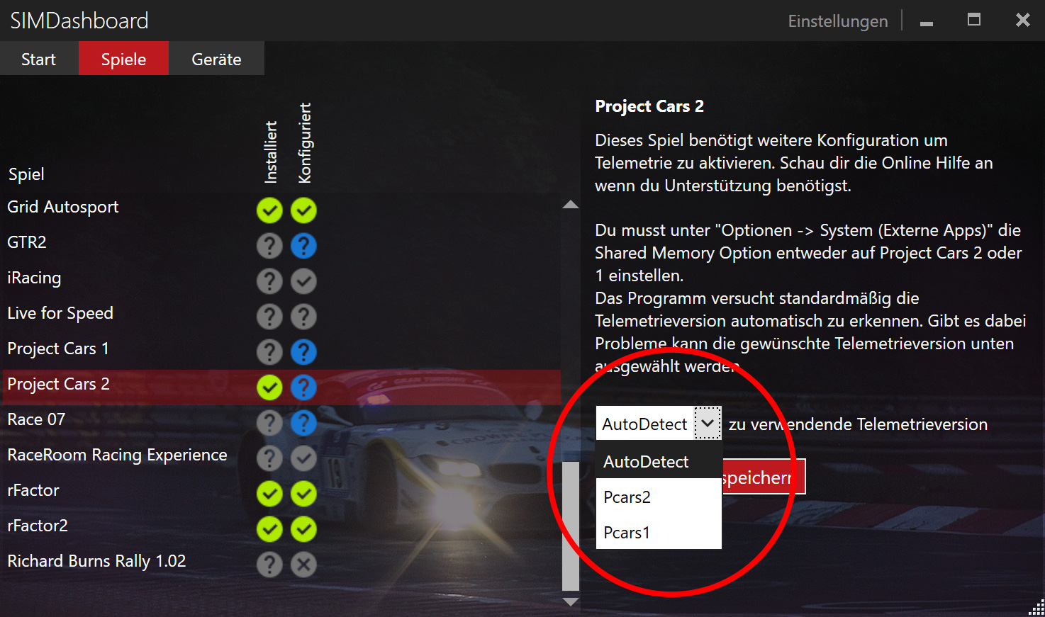 Enable Project Cars 2 Telemetry (PC) - SIM Dashboard
