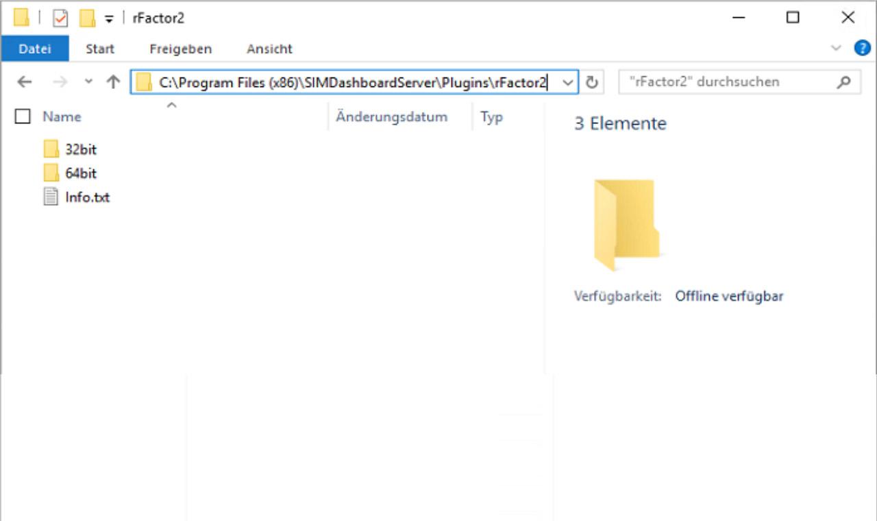 Enable rFactor 2 Telemetry - SIM Dashboard